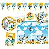 Procos 10108329 Kinderpartyset Disney Frozen Olaf Summer, M, 50 teilig