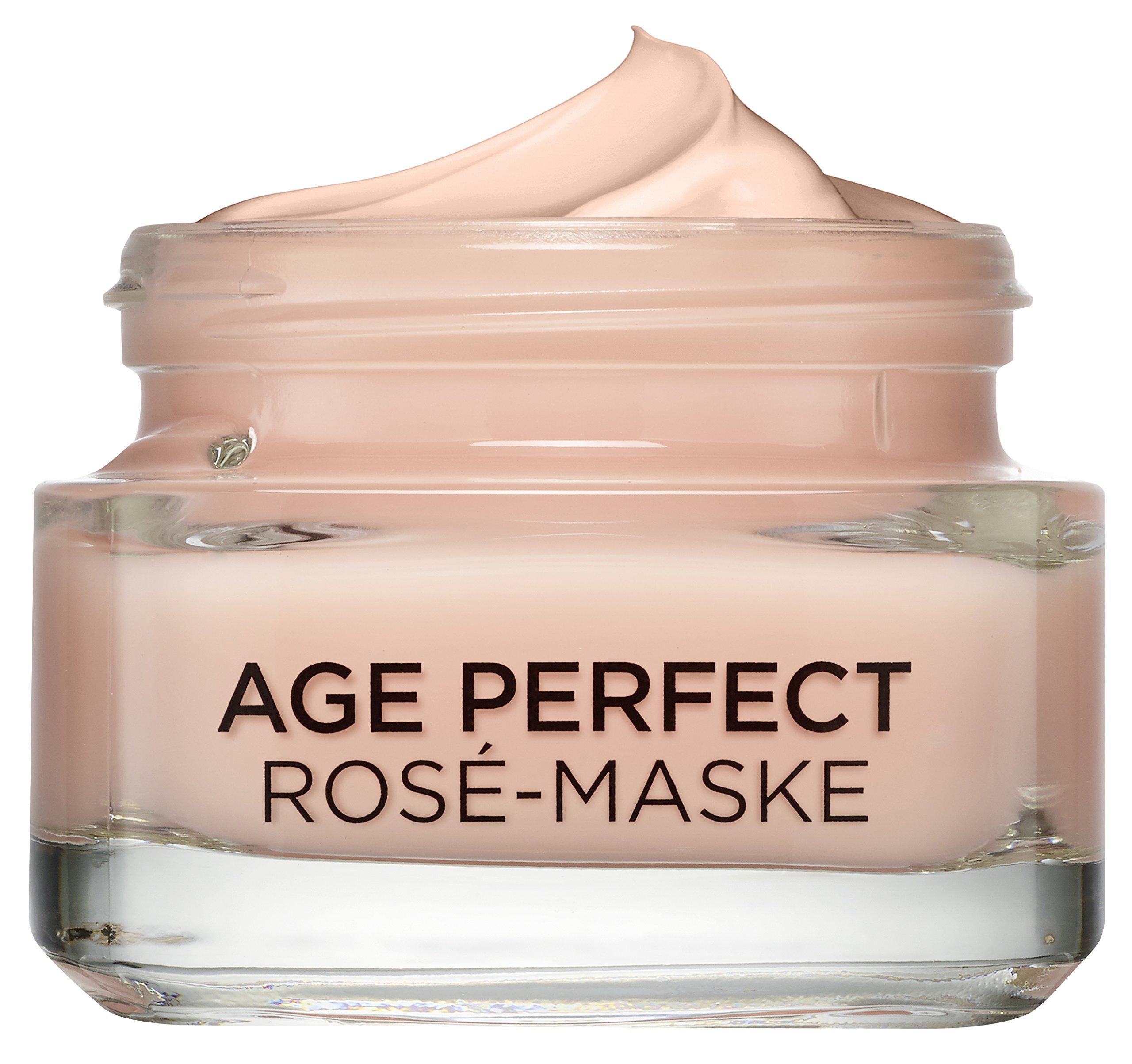L'Oréal Paris, Perfect Golden Age mascarilla de crema rosa, cuidado fresco, paquete de 1 unidad (50 ml), el embalaje puede variar