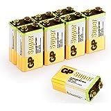 9V Super Alcaline par GP Batteries | Temps de Fonctionnement Extra Long| La Batterie Peut être utilisée dans Tous Les appareils compatibles 9V (boîte de 8)