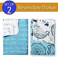 Divine Casa Microfibre 100TC Dohar Set (Single_Blue)