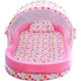 Nagar International Baby Toddler Bedding in Large Size Mosquito Net for 0-24 Months (Pink (0-24 Months))