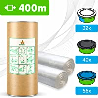 400m- ECO Ricarica mangiapannolini con trattamento antiodore EVOH+ compatibile ricariche Tommee Tippee & Tec, Twist and…