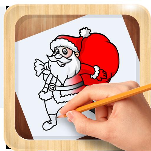 How To Draw Christmas Santa Claus Santa Claus Xmas Amazon