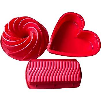 Royal Houseware Back Set 3 Kuchenformen Herz Rechteck Gugelhupf