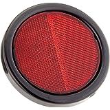 HELLA 8RA 002 016-121 Reflector - Kleur ruiten: rood - rond - montage / geschroefd - achter