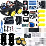 ELEGOO UNO Project Smart Robot Car Kit V 3.0 with UNO R3, Line Tracking Module, Ultrasonic Sensor, IR Remote Control...