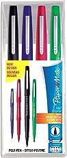 Paper Mate Flair-Stift, mittlere Spitze, 1,1mm, farblich sortiert, Tasche mit 4Stiften
