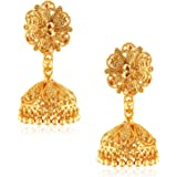 VFJ VIGHNAHARTA FASHION JEWELLERY Traditional Alloy Gold and Micron Plated Jhumki Earring for Women, Golden