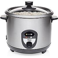 Elektrischer Edelstahl Reiskocher, 1,5 Ltr. 500 Watt mit Warmhaltefunktion für 800g Reis