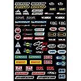 Kit Pegatinas ADESIVI PATROCINADOR Moto Compatible para Honda Yamaha KTM Cross Enduro Casco (07)