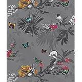 Arthouse 664800, Slate Mystical Forest Wallpaper, 53 cm x 10.05 m