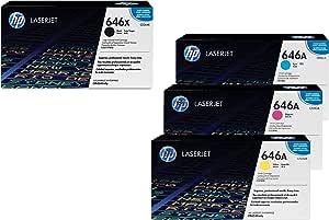 Hewlett Packard Hp Original 646 A 646x Toner Set X 4 Black High Capacity Cyan Magenta Yellow Baumarkt