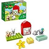 LEGO 10949 DUPLO Town Boerderij Dierenverzorging Speelgoed voor Peuters met Figuren van een Eend, Varken, Schaap en Kat