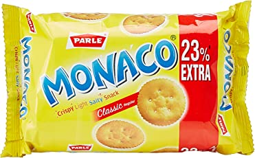 Parle Monaco Biscuit, Classic, 75.4g with Free 17.4g