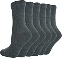 BAY6 6 or 12 Pairs Kids Back To School Plain Uniform Socks Multibuy Big Sale