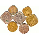 Collection House 7 Different British India Coins 2 Annas 3 Types 1 Anna 2 Types and 1 2 Anna 2 Types