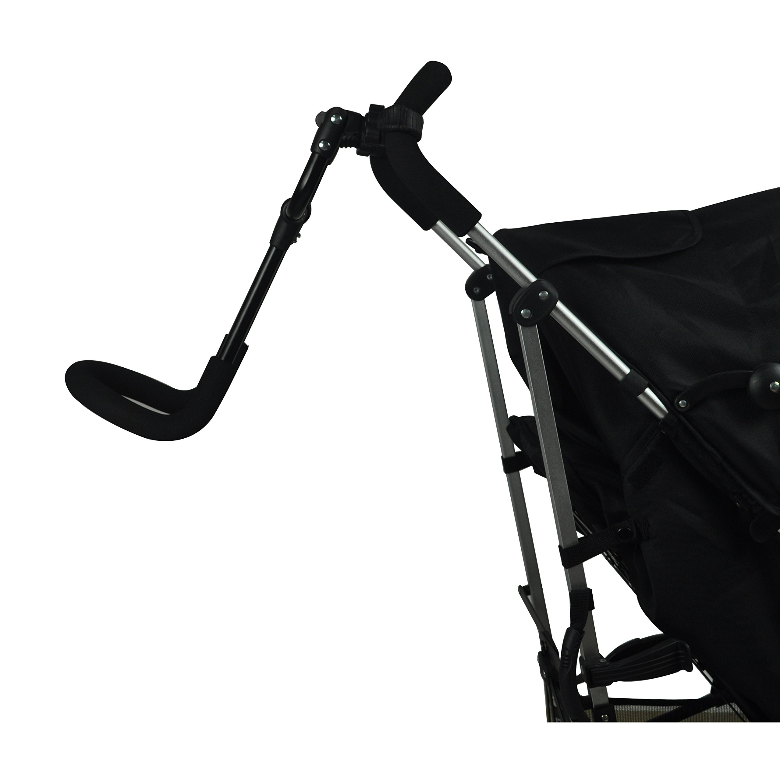 Englacha Cozy Stroll Handle Extension Bar, Black Englacha USA Universal lightweight handle extension bar (aluminum tube) can be installed on any buggy, stroller or pram without extra tools required Allows you control your stroller with just one hand and multitask with your free hand Increases extra at least 12-15 cm space for walking in the back of stroller 2