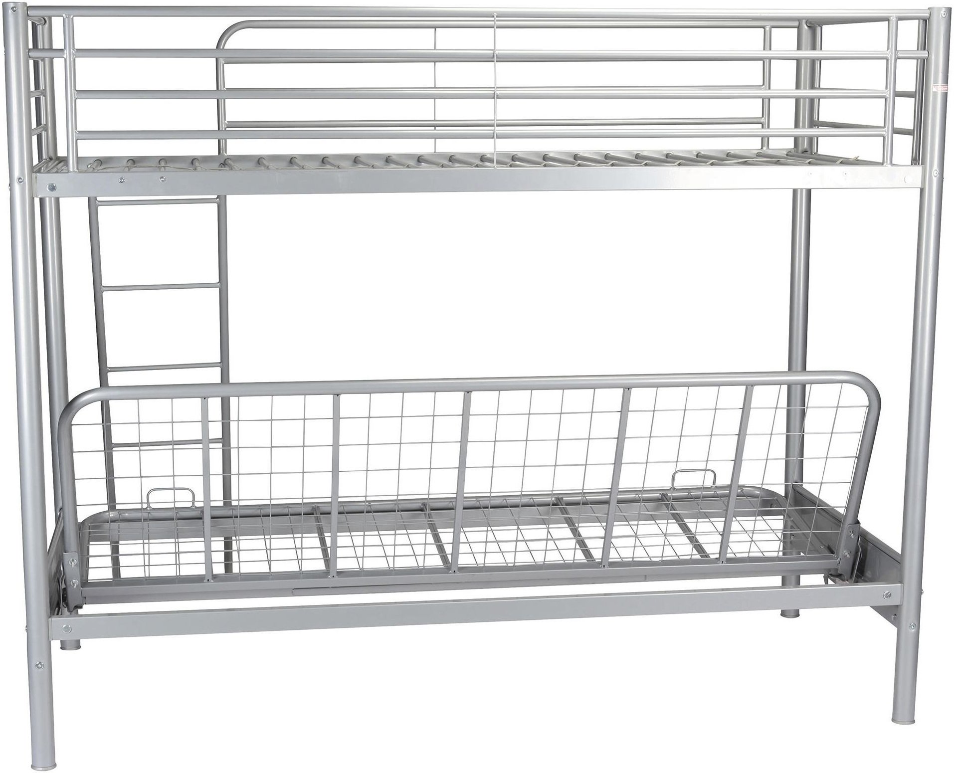 Tesco New Mika Single High Sleeper With Small Double Futon Bunk Bed