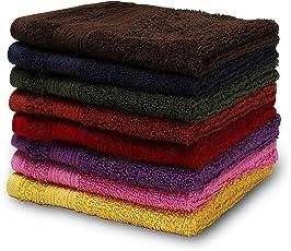 Turkish Bath Premium Cotton 550 GSM Face Towel Set of 8