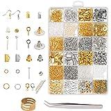Benodigdheden voor het maken van sieraden, ZoomSky 2536-delige sieradenreparatie-zoekset DIY-oorbellen, kettingen, armbanden,