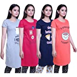 TRAZO Women's Long T-Shirt (Pack of 4)