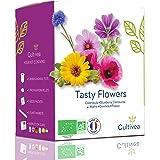Cultivea - Mini kit pronto a coltivare fiori commestibili rari - Semi francesi ecologici e biologici al 100% - Giardino, Deco