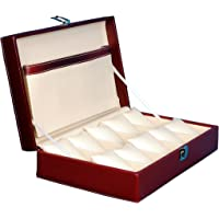 Hard Craft Watch Box Case PU Leather - Maroon