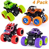 Farraige® 4 Pack 4WD Monster Truck Cars,Push and Go Toy Trucks Friction Powered Cars 4 Wheel Drive Vehicles for Toddlers…