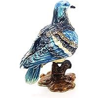 Boîte à bijoux décorative en forme de colombe - Bleu - Avec strass