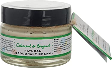 Burst Of Happyness Natural Deodorant Cream, Cedarwood & Bergamot, with Shea Butter & Cocoa Butter, Deodorant for women, unisex 40 g