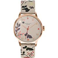 Radley Floral Ladies Dove Grey Leather Strap Epping Forest Watch RY2930A