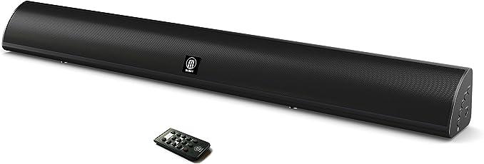 Snowdon Soundbar mit integriertem Subwoofer-Surround-Sound, 120 W kabelloses Bluetooth-Gerät Streaming, Fernbedienung, an die Wand montierbar, optisch kompatibel, RCA-Kabel enthalten