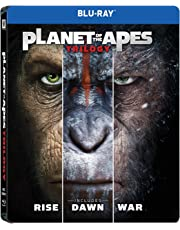 Planet of the Apes: Trilogy - Rise of the Planet of the Apes + Dawn of the Planet of the Apes + War for the Planet of the Apes  (Steelbook)