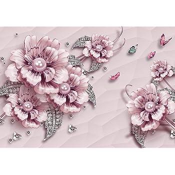 Wandbil Tapete Fototapete Blaue Blumen XXL 400 x 280 cm 8 Teile Fototapeten