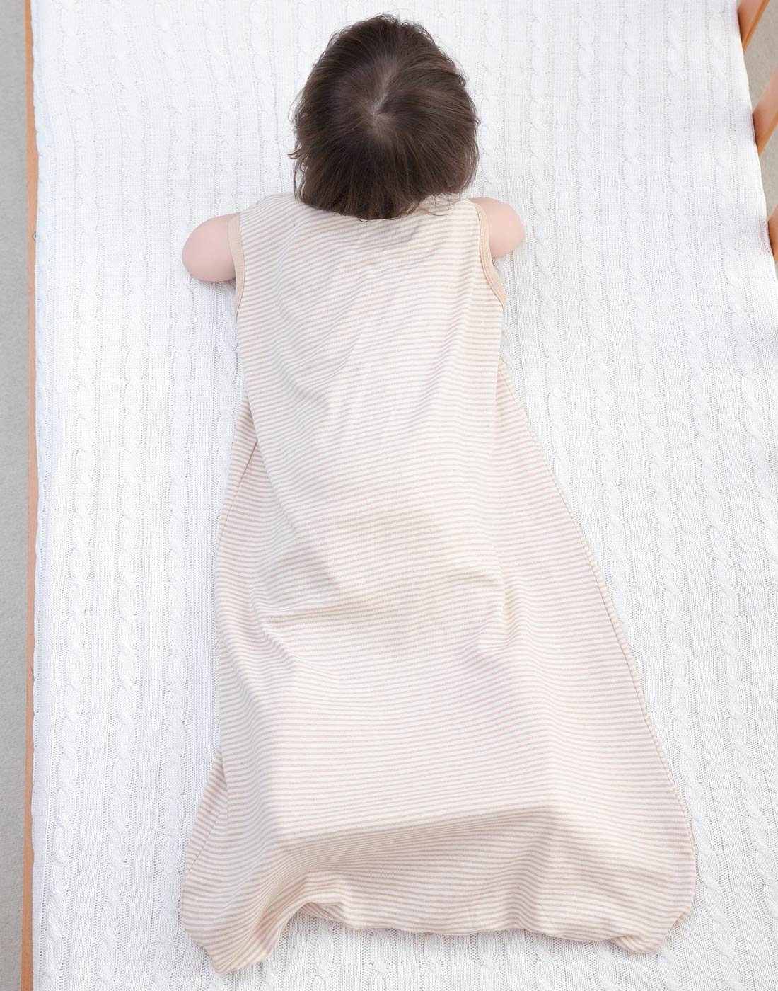 Happy Cherry – Saco de Dormir para Bebés de Verano sin Mangas de Algodón Bolsa de Dormir para Niños con Tres Aberturas Transpirable Slepping Bag bebé – Marrón – 5-36 Meses