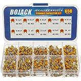BOJACK 10 Type 650-delige keramische condensator Assortimentset Condensatoren van 0,1 uf / 100 nF tot 10 uF in een doos