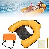 Yulefly Pool Stühle Luftmatratze Aufblasbare Wasserhängematte 200kg Wasserstuhl Nylonmaterial Water Floating Pool Hängematte