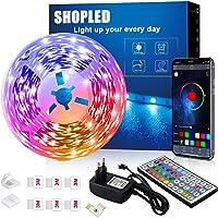 Striscia LED 6M, SHOPLED Bluetooth Music Sync SMD 5050 RGB Luci LED con Controllo Dell'Applicazione, Telecomando a 44…
