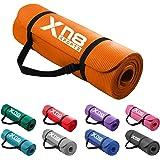 Xn8 Yogamatta Träningsmatta 15mm Halkfri fitness matta Physio gymnastikmatta för pilates fitness och träning 183 x 61 x 1.5 c