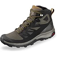 Salomon Men's OUTline Mid GTX Track and Field Shoe, Light Grey (Frost Gray/Black/Alloy), 7 UK