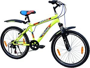 Tata Stryder Harris JR FS 6 Speed MTB Bicycle - Floro Green - For 12 & Above years - Ready to ride