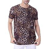 COSAVOROCK Men's Animal Print Short Sleeve T-Shirts