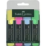 Faber-Castell 1548 Textliner Refillable Highlighter, Assorted - Set Of 4 F154804