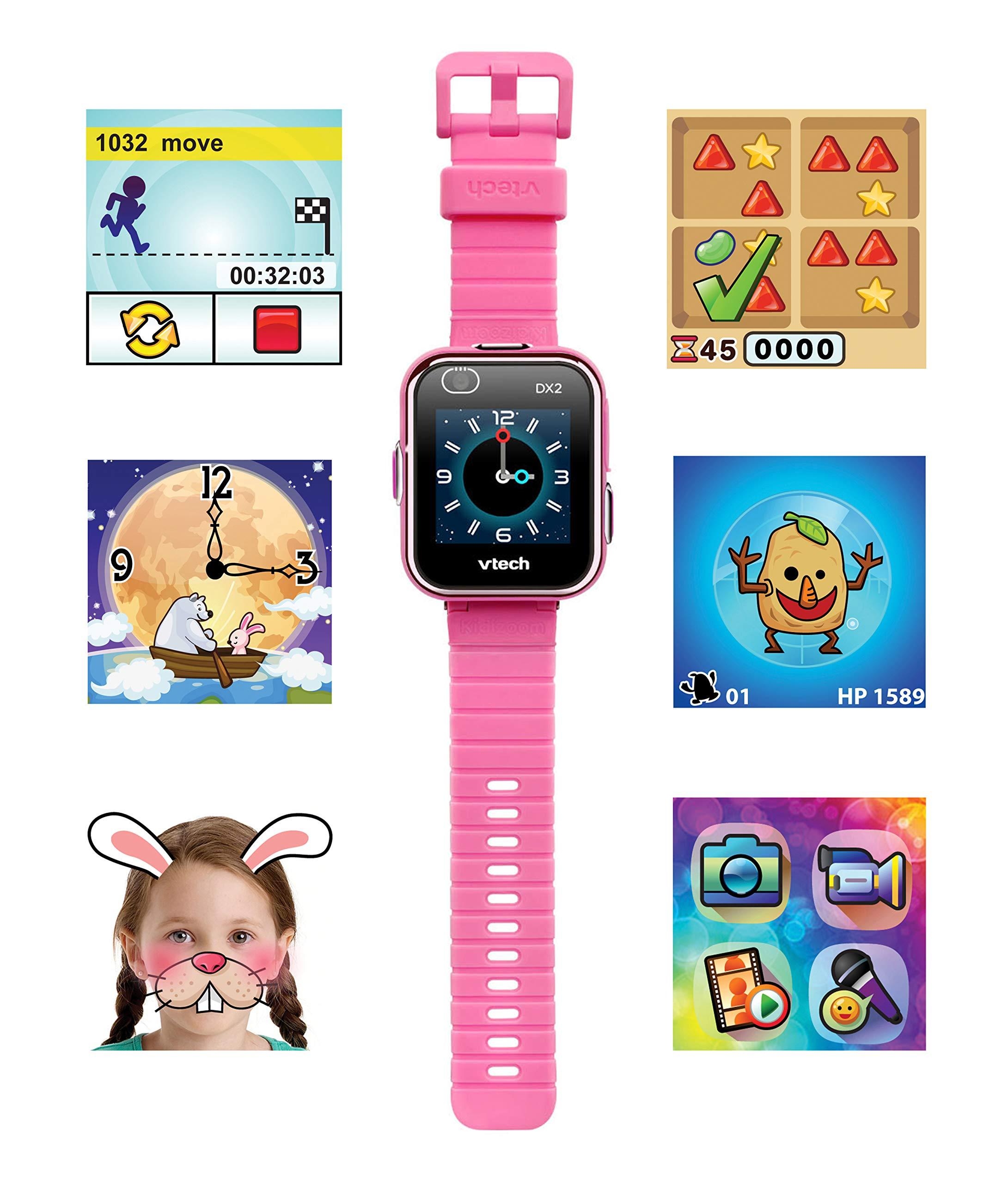 VTech 3480-193822 Kidizoom Smart Watch DX2 - Reloj inteligente para niños con doble cámara, color azul 3