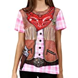 Funny World Women's Cowgirl Costume T-Shirts