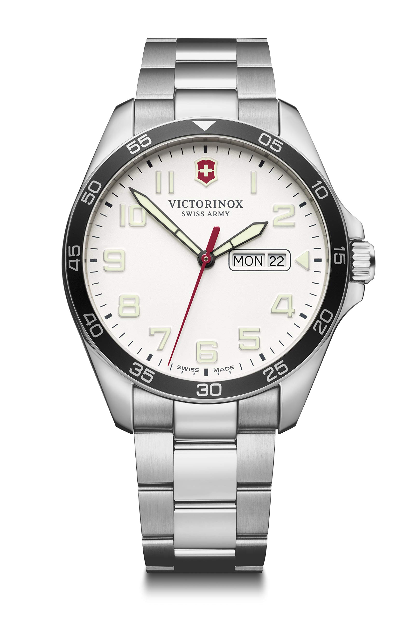 Victorinox Men's Field Force – Swiss Made Analogue Quartz Stainless Steel Watch with Day/Date 241850