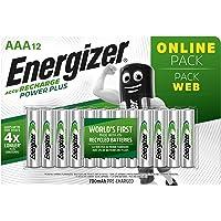 Energizer Piles Rechargeables AAA, Recharge Power Plus, Lot de 12