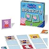 Ravensburger Peppa Pig Mini-Memory, dla dzieci od 3 lat, klasyczna gra zatrzaskowa dla pasujących par, 21376 (może nie być do