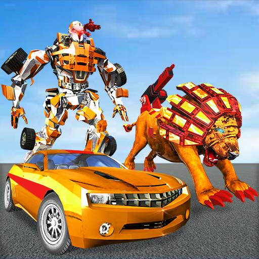 Ultimate Wild Lion Robot: Car Robot Transform Game