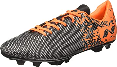 Nivia Carbonite Range Premier Synthetic Football Studs, Men's UK 11 (Black/Orange)